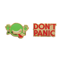 The Hitchhiker's Guide To The Galaxy Enamel Brass Pin Set - 2/Pkg