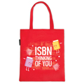 ISBN Thinking Of You Flat Canvas Tote BagNew!