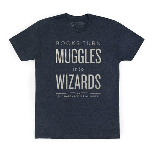 Books Turn Muggles Into Wizards Mens/Unisex T-Shirt
