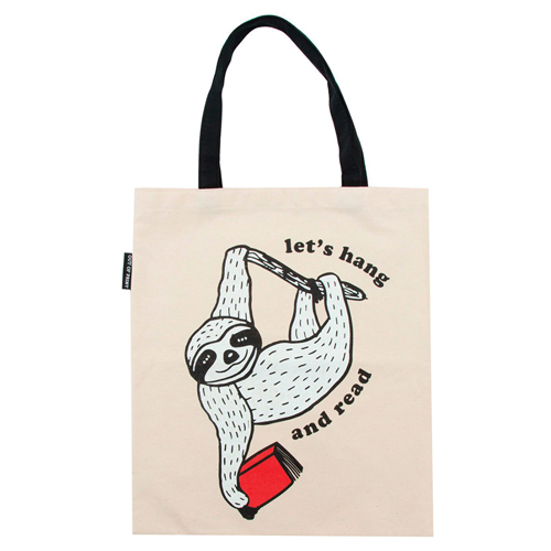 Let's Hang and Read Flat Canvas Tote Bag