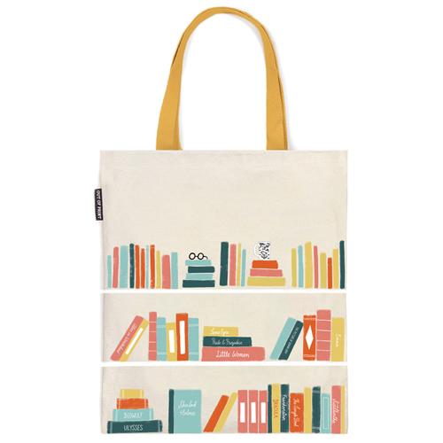 Bookshelf Flat Canvas Tote Bag