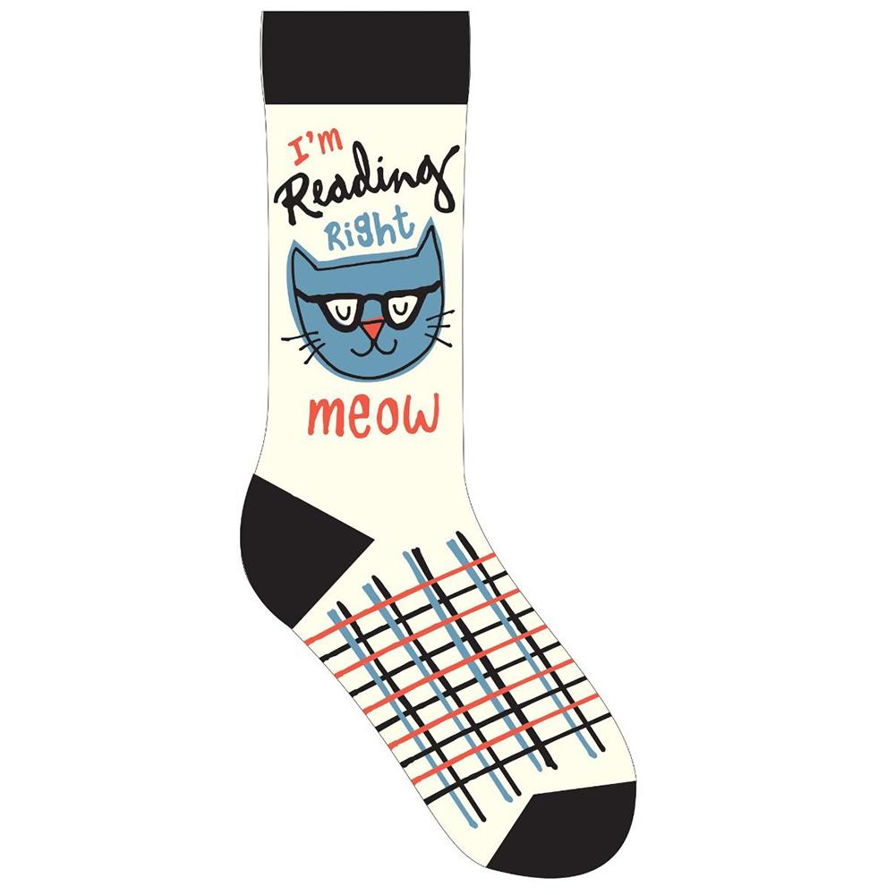 I'm Reading Right Meow Socks