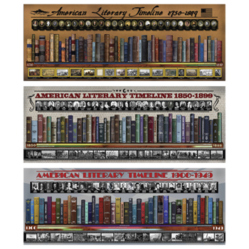 American Literary Timelines 3 Laminated Poster Set