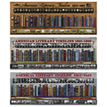 American Literary Timelines Laminated Posters - 3/Set