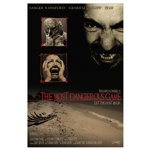 Save 60%   The Most Dangerous Game Classic Works of Literature Laminated Poster - CLEARANCE