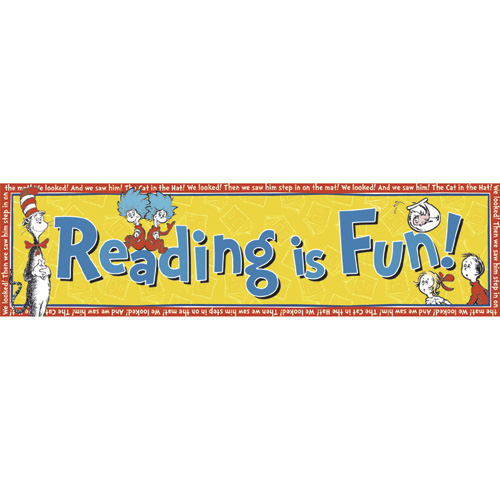 Dr. Seuss™ The Cat In Hat's™ Reading Is Fun! Horizontal Banner