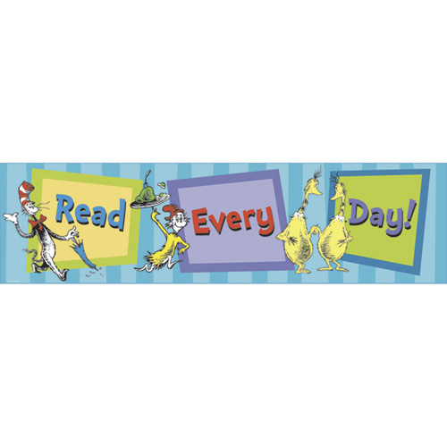Dr. Seuss™ The Cat In Hat's™ Read Every Day! Horizontal Banner