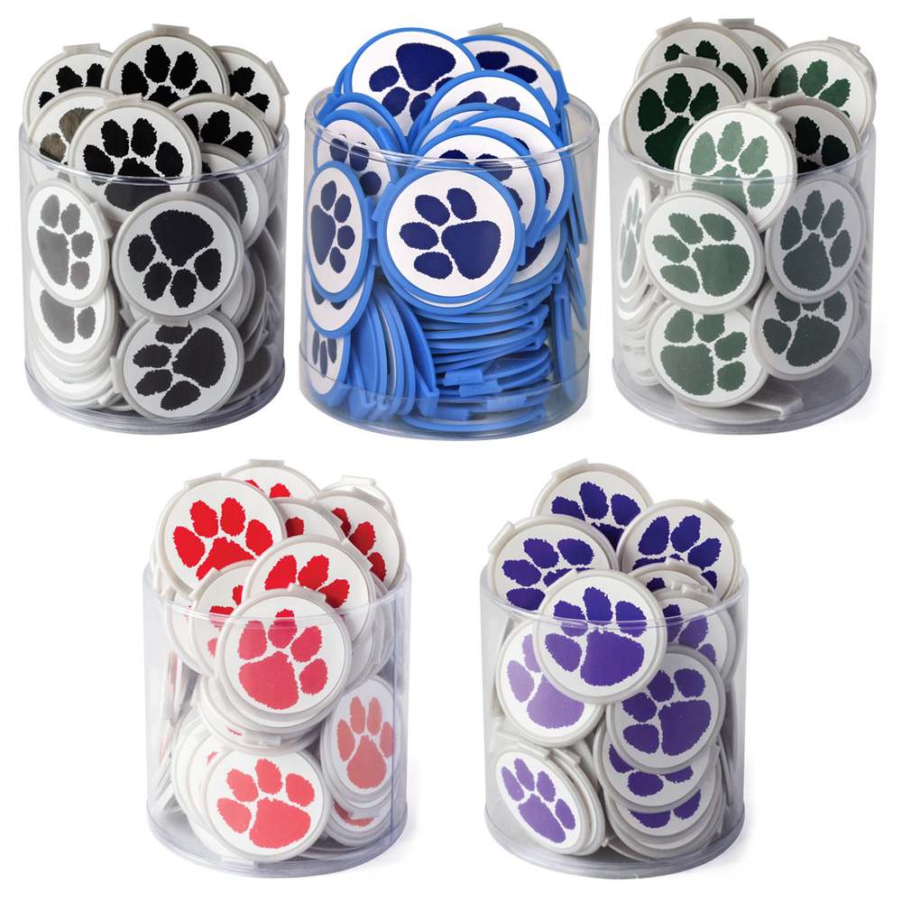 "Paw Prints ""2fun"" Bookmark Mini Tub - 75/Pkg"