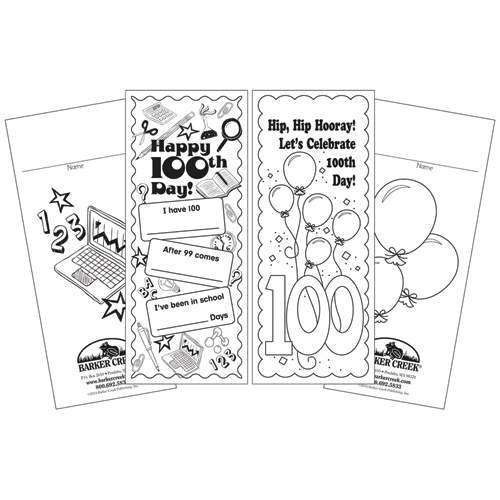 Celebrate 100th Day Duet Bookmarks - 60/Pkg