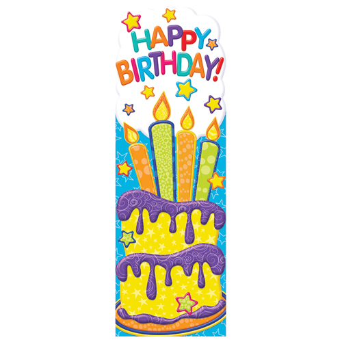 Happy Birthday Cake Bookmarks - 36/Pkg