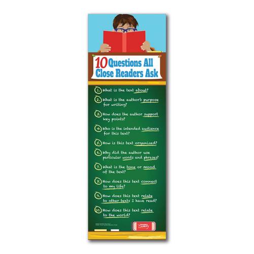 10 Questions All Close Readers Ask End Panel Laminated Poster