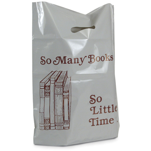 So Many Books So Little Time Plastic Bags - 25/Pkg