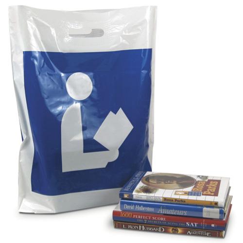Library Logo Plastic Library Bags - 25/Pkg