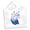 Celebrate Read Plastic Library Bags - 25/Pkg