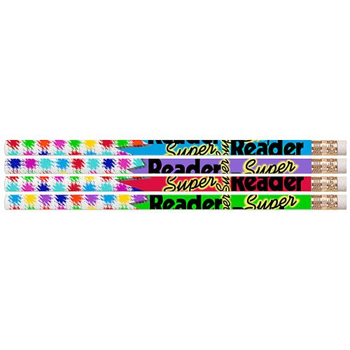 Super Reader Reading Motivational Pencils - 24/Pkg