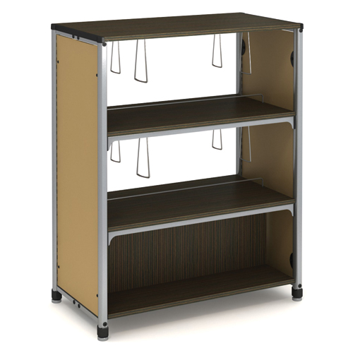 "Paragon Intuitive® IC Wood & Steel Library Shelving - 48""H x 38""W x 20-1/2""D, Double-Face Starter"