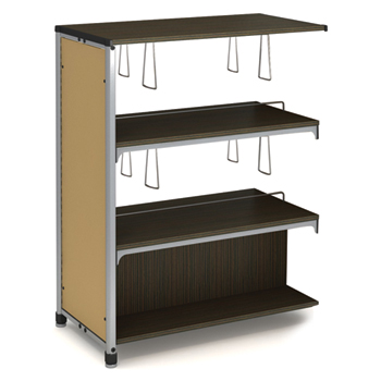 Paragon Intuitive® IC Wood & Steel Library Shelving - 48H x 38W x 20-1/2D, Double-Face Adder