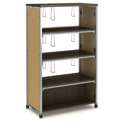 "Paragon Intuitive® IC Wood & Steel Library Shelving - 60""H x 38""W x 20-1/2""D, Double-Face Starter"