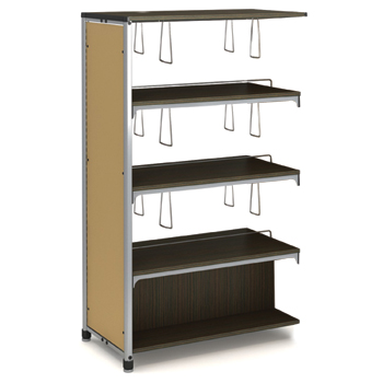 Paragon Intuitive® IC Wood & Steel Library Shelving - 60H x 38W x 20-1/2D, Double-Face Adder