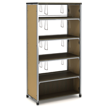 Paragon Intuitive® IC Wood & Steel Library Shelving - 72H x 38W x 20-1/2D, Double-Face Starter