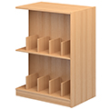 Atlantis™ Wood Double-Face Mobile Picture Book Library Shelving - 48