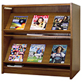 Atlantis™ Wood Single-Face Magazine Library Shelving - 42H x 12D Starter
