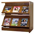 Atlantis™ Wood Single-Face Magazine Library Shelving - 42H x 12D Adder