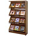 Atlantis™ Wood Single-Face Magazine Library Shelving - 60H x 12D Adder
