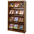 Atlantis™ Wood Single-Face Magazine Library Shelving - 72H x 12D Starter