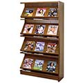 Atlantis™ Wood Single-Face Magazine Library Shelving - 72H x 12D Adder