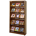 Atlantis™ Wood Single-Face Magazine Library Shelving - 82H x 12D Starter