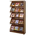 Atlantis™ Wood Single-Face Magazine Library Shelving - 82H x 12D Adder
