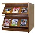 Atlantis™ Wood Double-Face Magazine Library Shelving - 42H x 24D Adder
