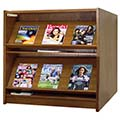 Atlantis™ Wood Double-Face Magazine Library Shelving - 48H x 24D Starter