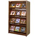 Atlantis™ Wood Double-Face Magazine Library Shelving - 60H x 24D Starter