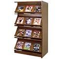 Atlantis™ Wood Double-Face Magazine Library Shelving - 60H x 24D Adder