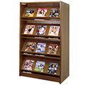 Atlantis™ Wood Double-Face Magazine Library Shelving - 72H x 24D Starter