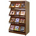 Atlantis™ Wood Double-Face Magazine Library Shelving - 72H x 24D Adder
