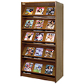 Atlantis™ Wood Double-Face Magazine Library Shelving - 82H x 24D Starter