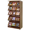 Atlantis™ Wood Double-Face Magazine Library Shelving - 82H x 24D Adder
