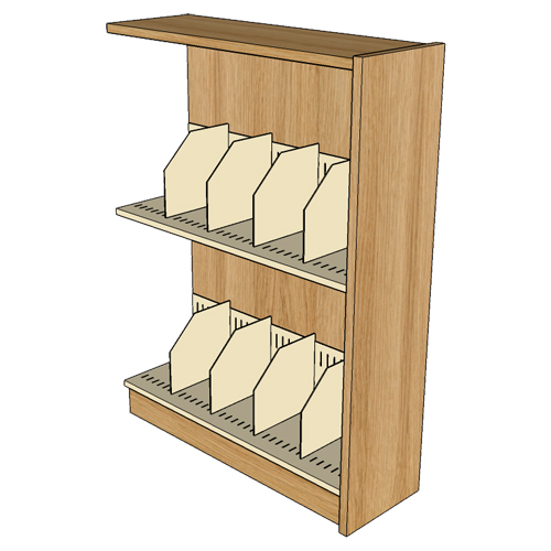 "Atlantis™ Wood & Steel Single-Face Picture Book Library Shelving - 48""H x 12""D Adder"