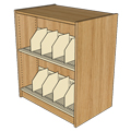 Atlantis™ Wood & Steel Double-Face Picture Book Library Shelving - 42