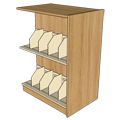 Atlantis™ Wood & Steel Double-Face Picture Book Library Shelving - 48