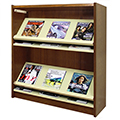 Atlantis™ Wood & Steel Single-Face Magazine Shelving - 42H x 12D Starter