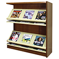 Atlantis™ Wood & Steel Single-Face Magazine Shelving - 48H x 12D Adder