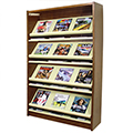 Atlantis™ Wood & Steel Single-Face Magazine Shelving - 60H x 12D Starter