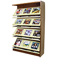 Atlantis™ Wood & Steel Single-Face Magazine Shelving - 60H x 12D Adder