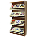 Atlantis™ Wood & Steel Single-Face Magazine Shelving - 72H x 12D Adder
