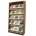 Atlantis™ Wood & Steel Single-Face Magazine Shelving - 82H x 12D Starter