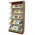 Atlantis™ Wood & Steel Single-Face Magazine Shelving - 82 x 12D Adder